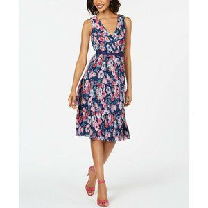 Adrianna Papell NEW Floral Ruffle Fit Flare Dress